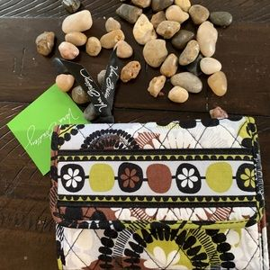 Vera Bradley Euro Wallet Cocoa Moss NWT
